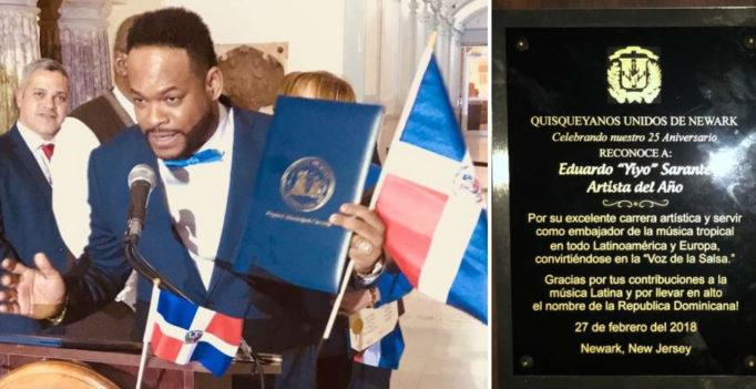 Yiyo Sarante recibe reconocimiento en Newark