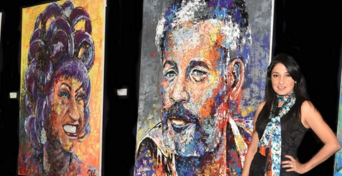 Los rostros de la salsa, muestra de arte colombiano