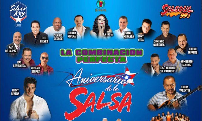 Cientos bailan en el Aniversario de la Salsa